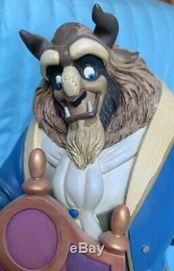 Disney Beauty And The Beast 10th Anniversary Snow Globe-Rare
