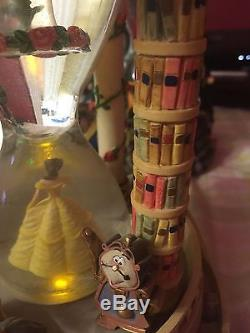 Disney Beauty And The Beast Hourglass Snowglobe