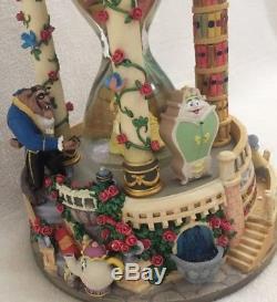 Disney Beauty And The Beast Musical Light Up Hour Glass Snowglobe Original Box
