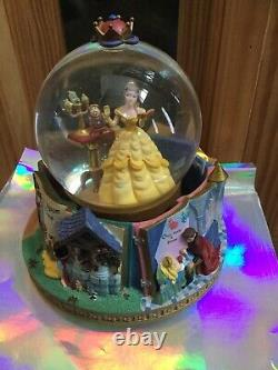 Disney Beauty And The Beast Snow Globe With Music