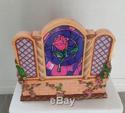 Disney Beauty & The Beast Library Musical Blower Snowglobe Water Snow Globe New