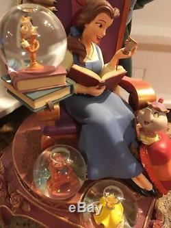 Disney Beauty and the Beast 10th anniversary snowglobe statue Huge Rare 13.5inch