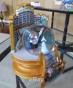 Disney Beauty and the Beast Belle Library Musical Snow Globe