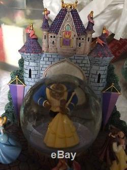 Disney Beauty and the Beast, Cinderella, Ariel, Dancing Princesses Snowglobe