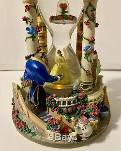 Disney Beauty and the Beast Hour Glass Snow Globe