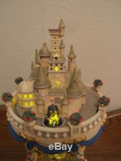 Disney Beauty and the Beast Hour Glass Snow Globe