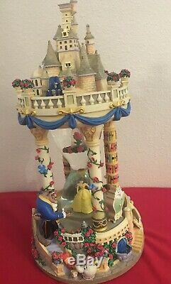 Disney Beauty and the Beast Hour Glass Snow Globe Belle Musical Castle