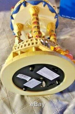 Disney Beauty and the Beast Hourglass Musical, Light-up Snowglobe Original Box