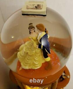 Disney Beauty and the Beast Pedestal Snowglobe