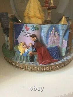 Disney Beauty and the Beast Princess Belle Rotating Snow Globe Storybook