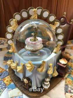 Disney Beauty and the Beast Snow globe Music Box Bell Lumiere Mrs. Pot
