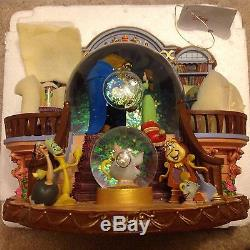 Disney Beauty & the Beast THERE SOMETHING THERE Musical Blower SnowGlobe-MIB
