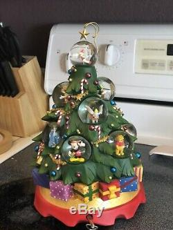 Disney Character Holiday Christmas Family Tree Snow Globe Mickey Dumbo Stitch