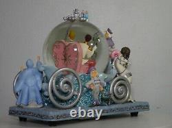 Disney Cinderella 50th Anniversary SO THIS IS LOVE Snow Globe Music Box