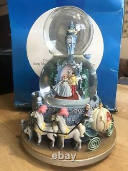 Disney Cinderella Double Snow Globe Music Box A Dream Is A Wish Your Heart Makes