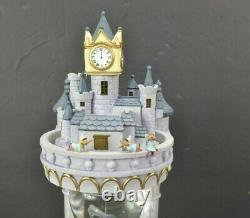 Disney Cinderella Hourglass Water Snow Globe Musical Lights Up 95431 13.5 Box