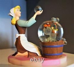 Disney Cinderella with Jaq and Gus Vintage Mini Snow Globe Statue Disney Store