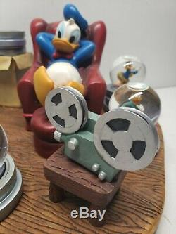 Disney Donald Duck Retired Through The Year's Mini Snow Globe Theater Set #22296