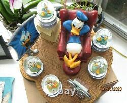 Disney Donald Duck Through the Years Mini Snow Globe Theater Figurine #22296