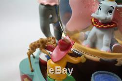Disney Dumbo Animated Musical Water Snow Globe