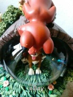 Disney Extremely Rare The Fox And The Hound Snow Globe