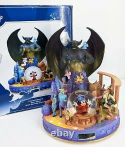 Disney Fantasia Mickey Mouse Sorcerer Musical Snow Globe Huge 70th Anniversary