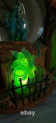 Disney Haunted Mansion Light Up Snow Globe Grim Grinning Ghosts