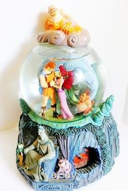 Disney Hercules Snow Globe I Won't Say I'm In Love Meg Zeus Rotating Base RARE