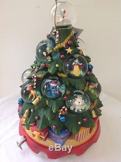 Disney Holiday Christmas Tree Multi Character Snowglobe Rare-new
