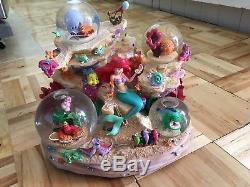Disney LITTLE MERMAID Musical UNDER THE SEA Coral Reef Ariel SNOWGLOBE in Box