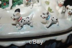 Disney Large 101 Dalmatians Snowglobe Dogs Escaping Cruellas Car Damaged