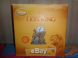 Disney Lion King Musical Circle of Life Snow Globe NIB RARE