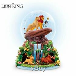 Disney Lion King Rotating Musical Glitter Globe by The Bradford Exchange