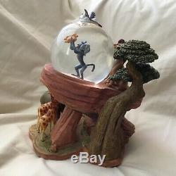 Disney Lion King SIMBA PRIDE ROCK CIRCLE OF LIFE Musical Figurines SnowGlobe