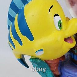 Disney Little Mermaid Ariel Musical Animated Snow Globe Plays Under the Sea