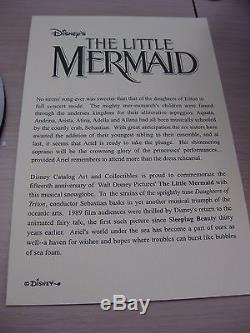 Disney Little Mermaid Ariel Snowglobe Daughters of Triton 15th Anniversary
