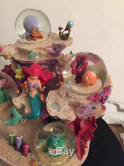 Disney Little Mermaid Ariel Under The Sea Coral Reef Symphony 4 Mini Snowglobe