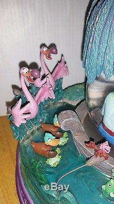 Disney Little Mermaid Kiss the Girl Snow Globe Blower Works Has Damage snowglobe