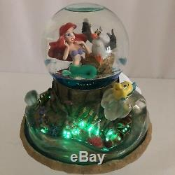 Disney Little Mermaid Musical Waterglobe Ariel Lights Up Part Of Your World