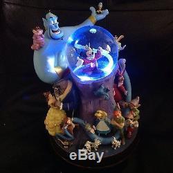Disney MICKEY MOUSE WONDERFUL WORLD Musical Lights Up Snow Globe-MIB