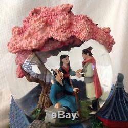 Disney MULAN Rotating Base Musical Figurines Snowglobe