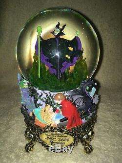 Disney Maleficent Sleeping Beauty Snow globe, Masters of Animation, Lights Up