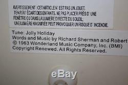 Disney Mary Poppins Snow Globe Carousel Horses Bert Musical Jolly Holiday WithBox