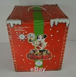 Disney Mickey Mouse Deck The Halls Motion Carousel Snow globe Snow Globe