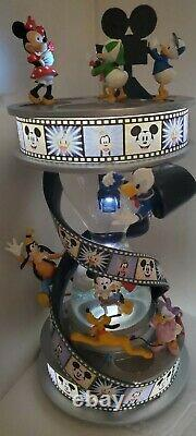 Disney Mickey Mouse and friends Fab 5 movie hourglass snow globe lights-up