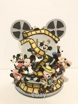 Disney Mickey Through the Years Mickey Mouse March Snow Globe Film Ears Rare