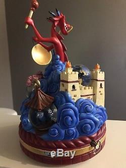 Disney Mulan Mushu Anniversary Snowglobe Rare HTF