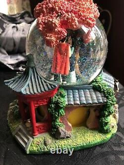 Disney Mulan Reflections Musical Snow Globe Rotating Figures Waterfall TAGS ON