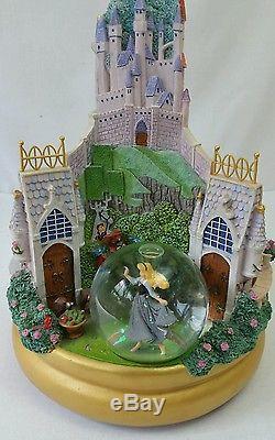 Disney Multi Princess Rotating Snowglobe With Music Rare Cinderella Snow white