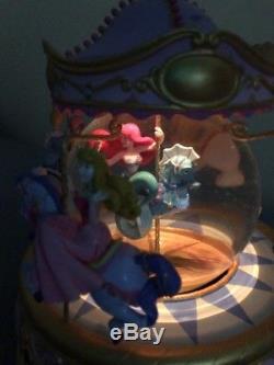 Disney Musical Little Mermaid Carousel Belle Ariel Aurora Snow White Snowglobe